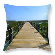 Long St. Augustine Marsh Dock Throw Pillow