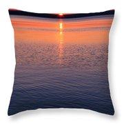 Long Sunset Throw Pillow