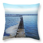 Long View To The Ocean Throw Pillow