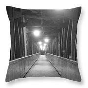 Long Walking Bridge Throw Pillow