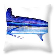Longbill Spearfish Throw Pillow