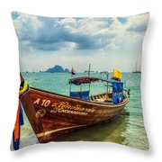 Longboat Asia Throw Pillow