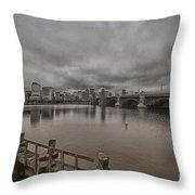Longfellow Bridge Boston V8 Throw Pillow