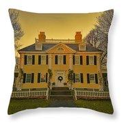 Longfellow House-cambridge Boston Throw Pillow