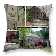 Longfellow's Grist Mill Throw Pillow by Patricia Urato