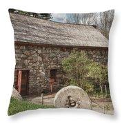 Longfellow's Wayside Inn Grist Mill Throw Pillow