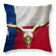 Longhorn Of Texas 2 Throw Pillow