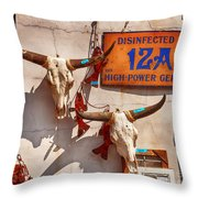 Longhorn Skulls On The Wall Throw Pillow