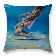 Longing From The Depths Throw Pillow by Dorina  Costras