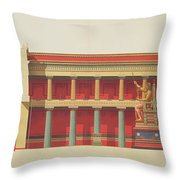 Longitudinal Section Of The Temple Throw Pillow