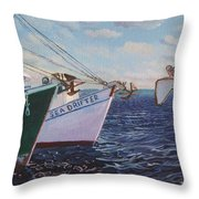 Longliners Achor To Anchor Throw Pillow