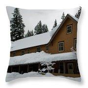 Longmire Inn   Winter 2013 Throw Pillow