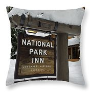 Longmire National Park Inn Throw Pillow