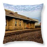 Longmont Depot Throw Pillow