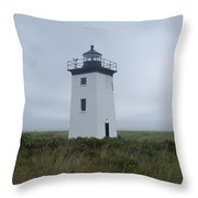 Longpoint Lighthouse Throw Pillow