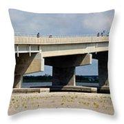 Longport Bridge Throw Pillow