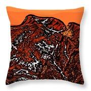 Longs Peak - Colorado Throw Pillow