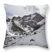 Longs Peak Winter Throw Pillow