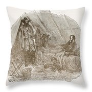 Longstreet Reporting At Braggs Throw Pillow