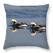 Longtail Brothers Throw Pillow