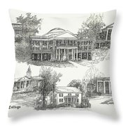 Longwood College Throw Pillow