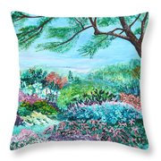 Longwood Gardens Throw Pillow