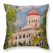 Longwood Natchez Mississippi Throw Pillow