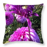 Look At Me Dahlia Flower Throw Pillow