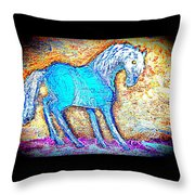 Look At Me Now, I'm So Blue Throw Pillow