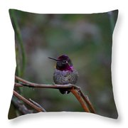 Look He Is Turning Purple Throw Pillow