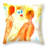 Look In The Mirror And See What You Can Find  Throw Pillow