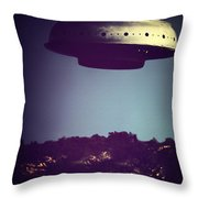 Look... It's A Flying Saucer Throw Pillow