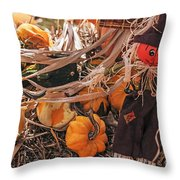 Look Of Fall Throw Pillow