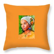 Look Of Hope Throw Pillow