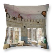 Look Out For Food Throw Pillow