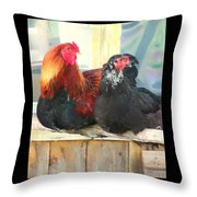 Look To The Left, Go To The Right  Throw Pillow