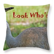 Look Who's 50 Throw Pillow