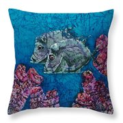 Lookdowns Pair Throw Pillow