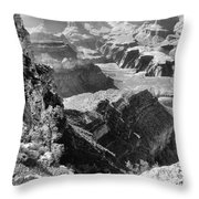 Looking Down On Grand Canyon Throw Pillow