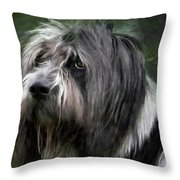 Looking A Little Sad Throw Pillow by Gun Legler