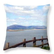 Looking At Black Combe Throw Pillow