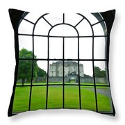 Looking At Portumna Castle Throw Pillow