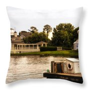 Looking At The Boardwalk Gazebo Walt Disney World Throw Pillow