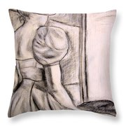Looking At The Light Throw Pillow