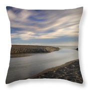 Looking At The Sea Throw Pillow