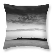 Looking At The Seasunset Throw Pillow