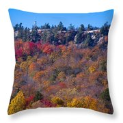 Looking At The Top Of Bald Mountain Throw Pillow