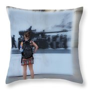 Looking Back In Time - Lisbon Throw Pillow