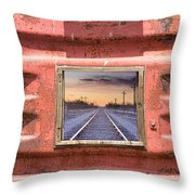 Looking Back Panorama Throw Pillow