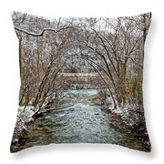 Looking Down Clifty Creek Throw Pillow